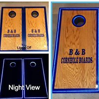 B&B Cornhole Boards and Embroidery Designs